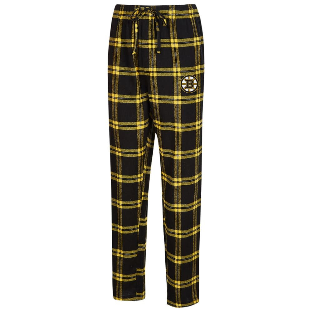 BOSTON BRUINS Men's Homestretch Flannel Pajama Pants - BLACK