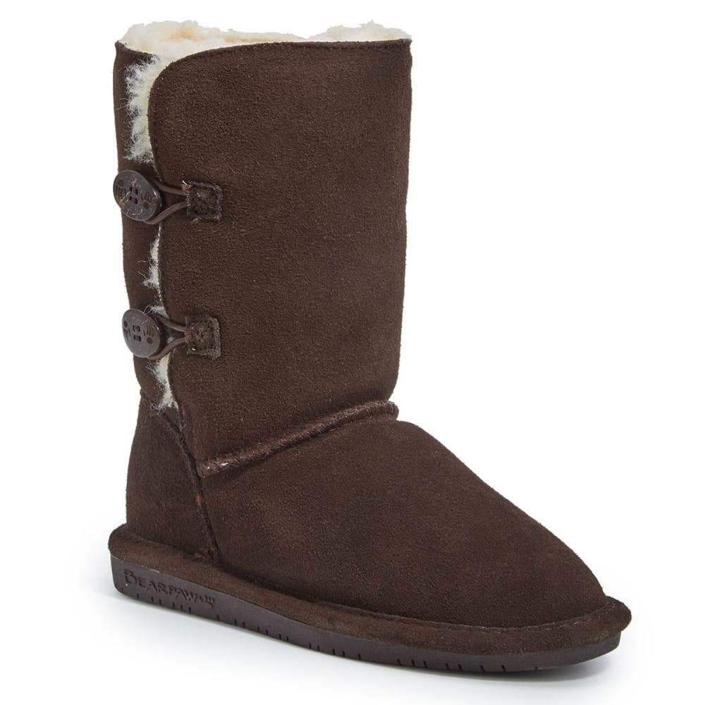 BEARPAW Girls' Lori 2-Toggle Boots - CHOCOLATE-205