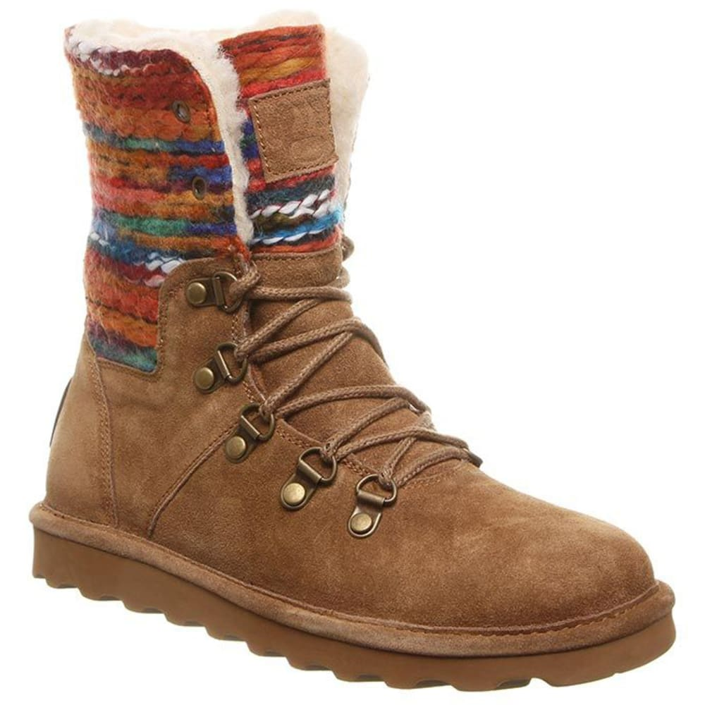BEARPAW Women's Maria Lace-Up Boots - 220-HICKORY
