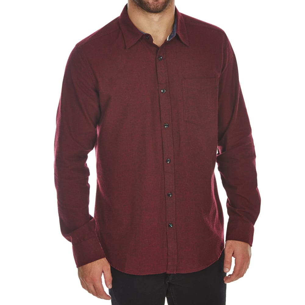 OCEAN CURRENT Guys' Osborne Long-Sleeve Flannel Shirt - RIO RED
