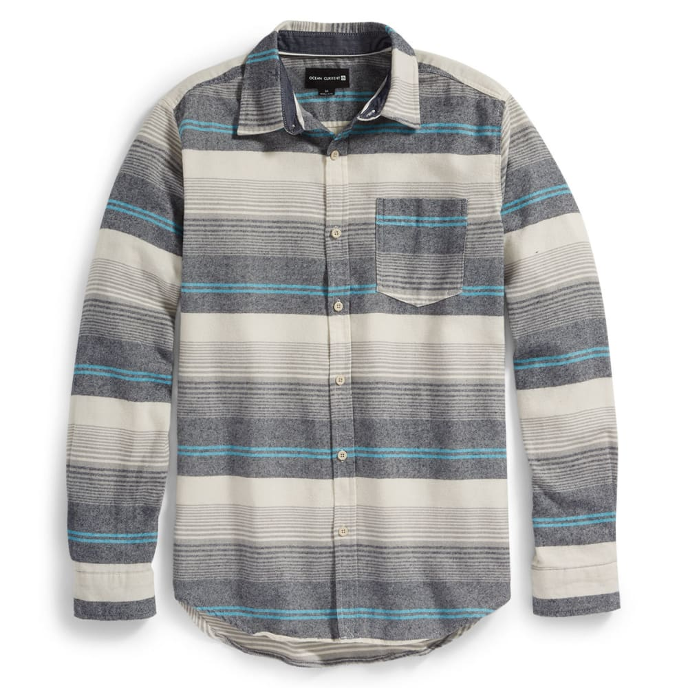 OCEAN CURRENT Guys' Washburn Long-Sleeve Flannel Shirt - CREAM