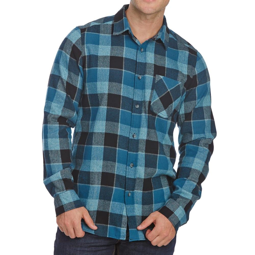 OCEAN CURRENT Guys' Cassidy Long-Sleeve Flannel Shirt - BLACK