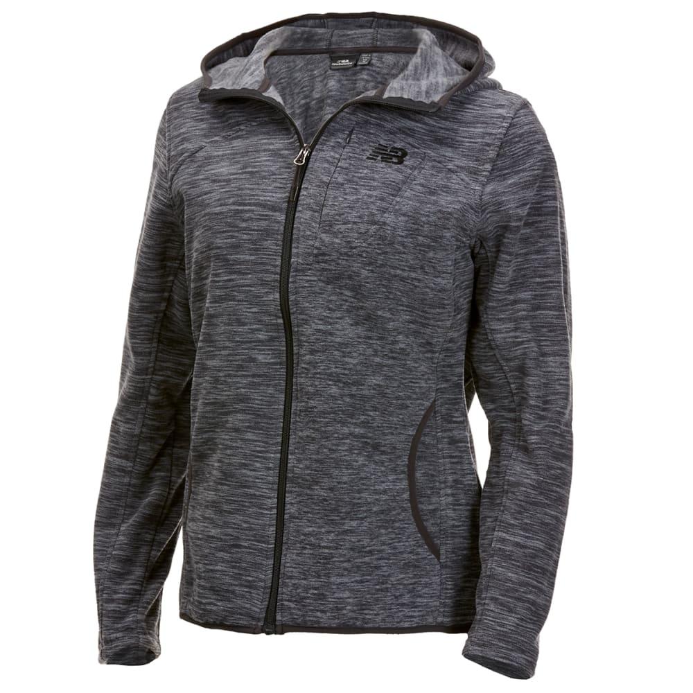 New Balance Women's Polar Fleece Space-Dye Full-Zip Hoodie - Black, S