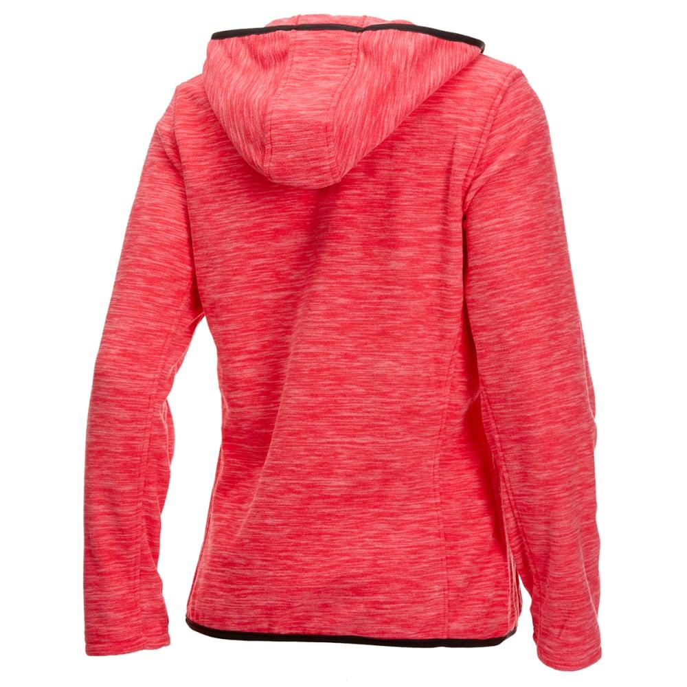 NEW BALANCE Women's Polar Fleece Space-Dye Full-Zip Hoodie - GUAVA-PT208