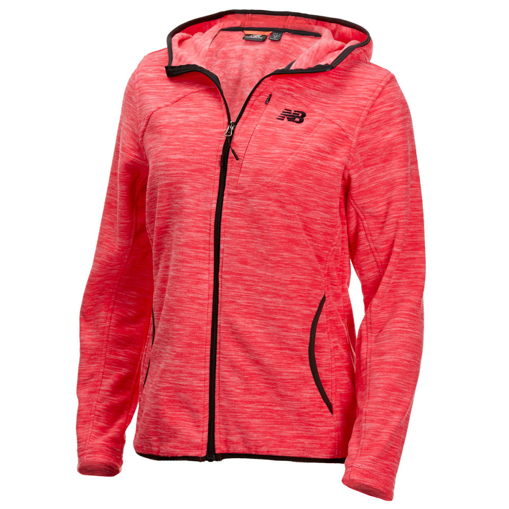 NEW BALANCE Women's Polar Fleece Space-Dye Full-Zip Hoodie M