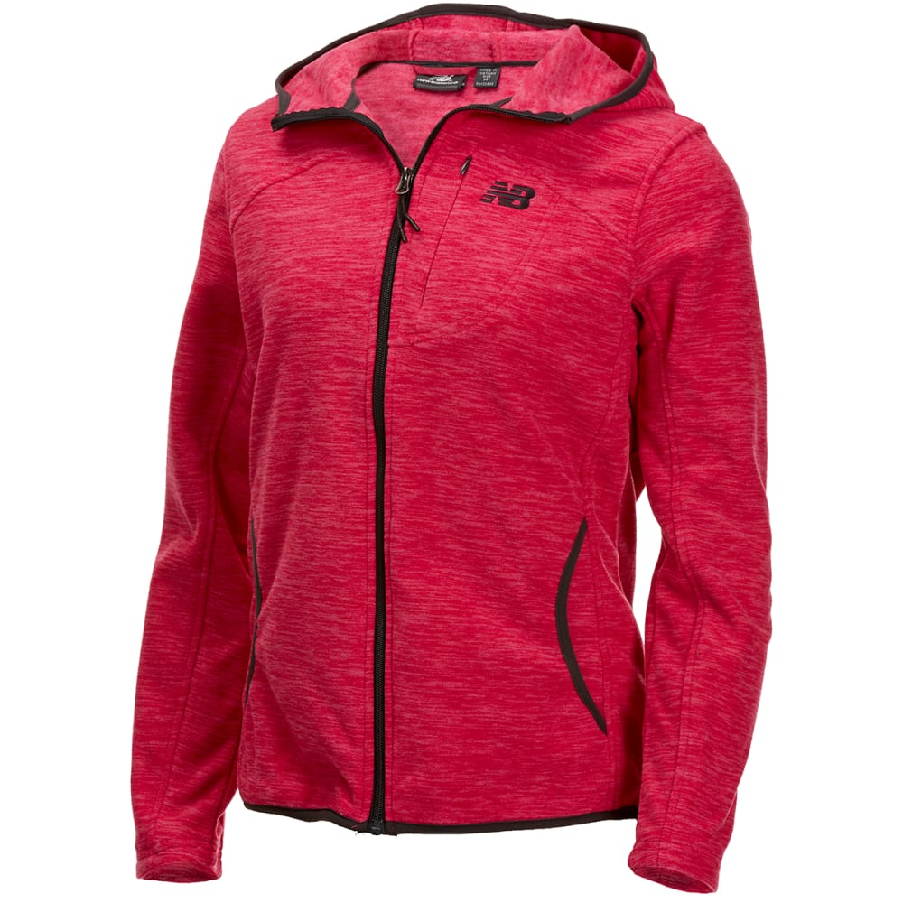 NEW BALANCE Women's Polar Fleece Space-Dye Full-Zip Hoodie S