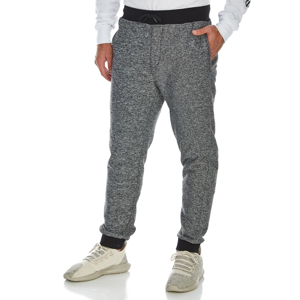 OCEAN CURRENT Guys' Warmer Sherpa-Lined Jogger Pants - BLACK