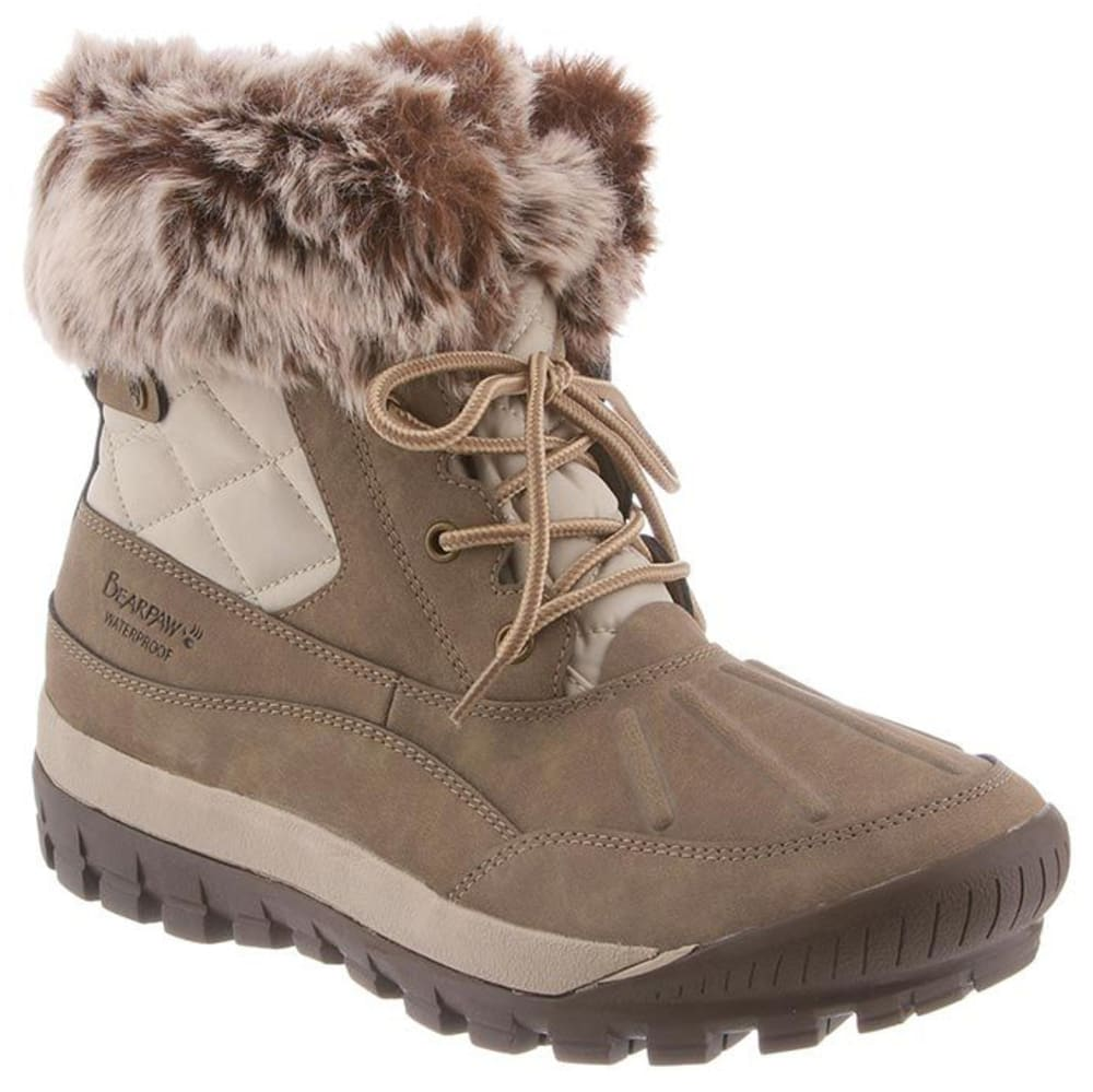 BEARPAW Women's Becka Waterproof Short Boots - STONE/STONE-276