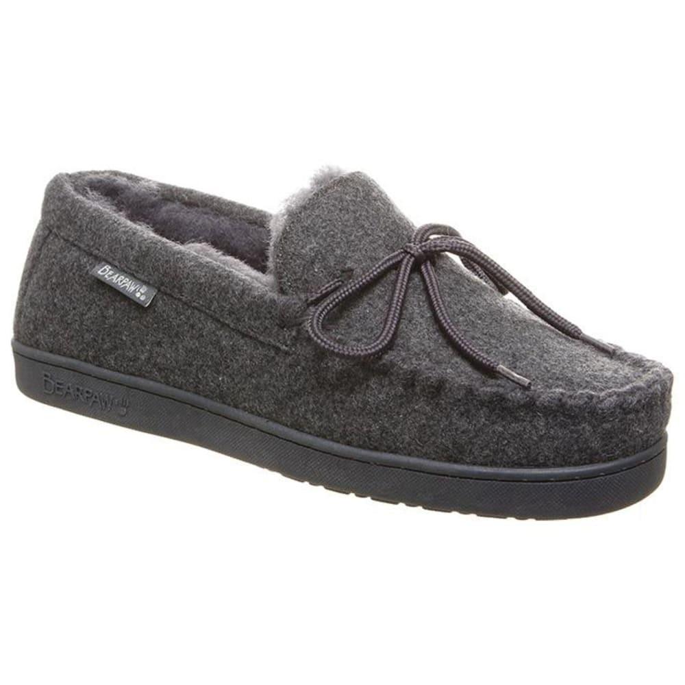 BEARPAW Men's Moc II Slippers - GRAY WOOL-055