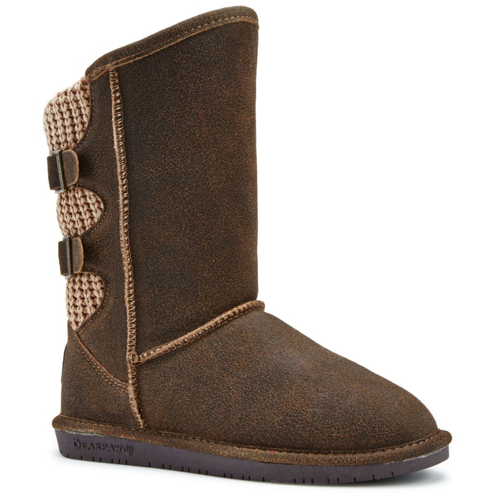 BEARPAW Women's Boshie Boots, Wide - CHESTNUT DISTRES-221