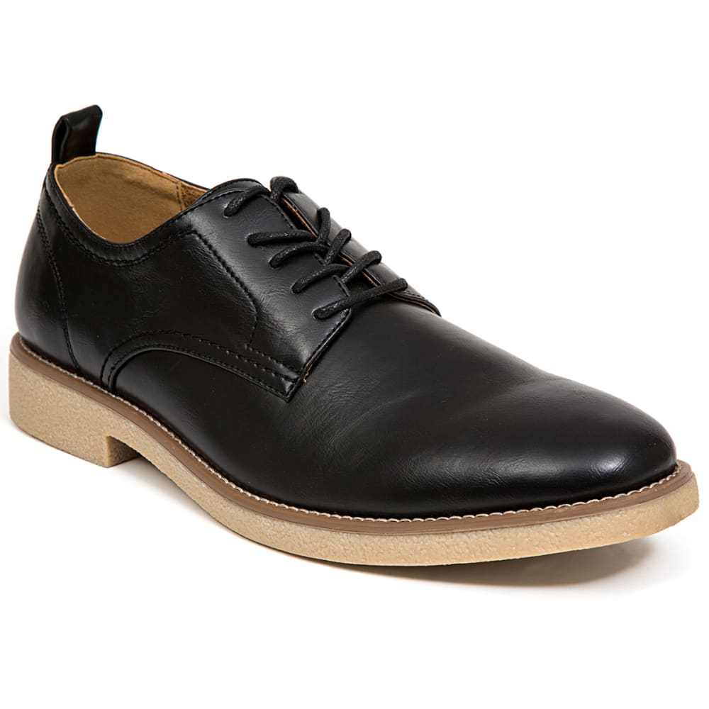 DEER STAGS Men's Highland Lace-Up Oxford Dress Shoes - BLACK