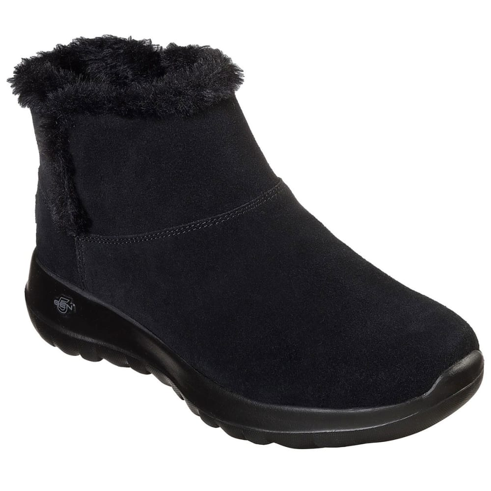 Skechers Women's On The Go Joy - Bundle Up Boots - Black, 8