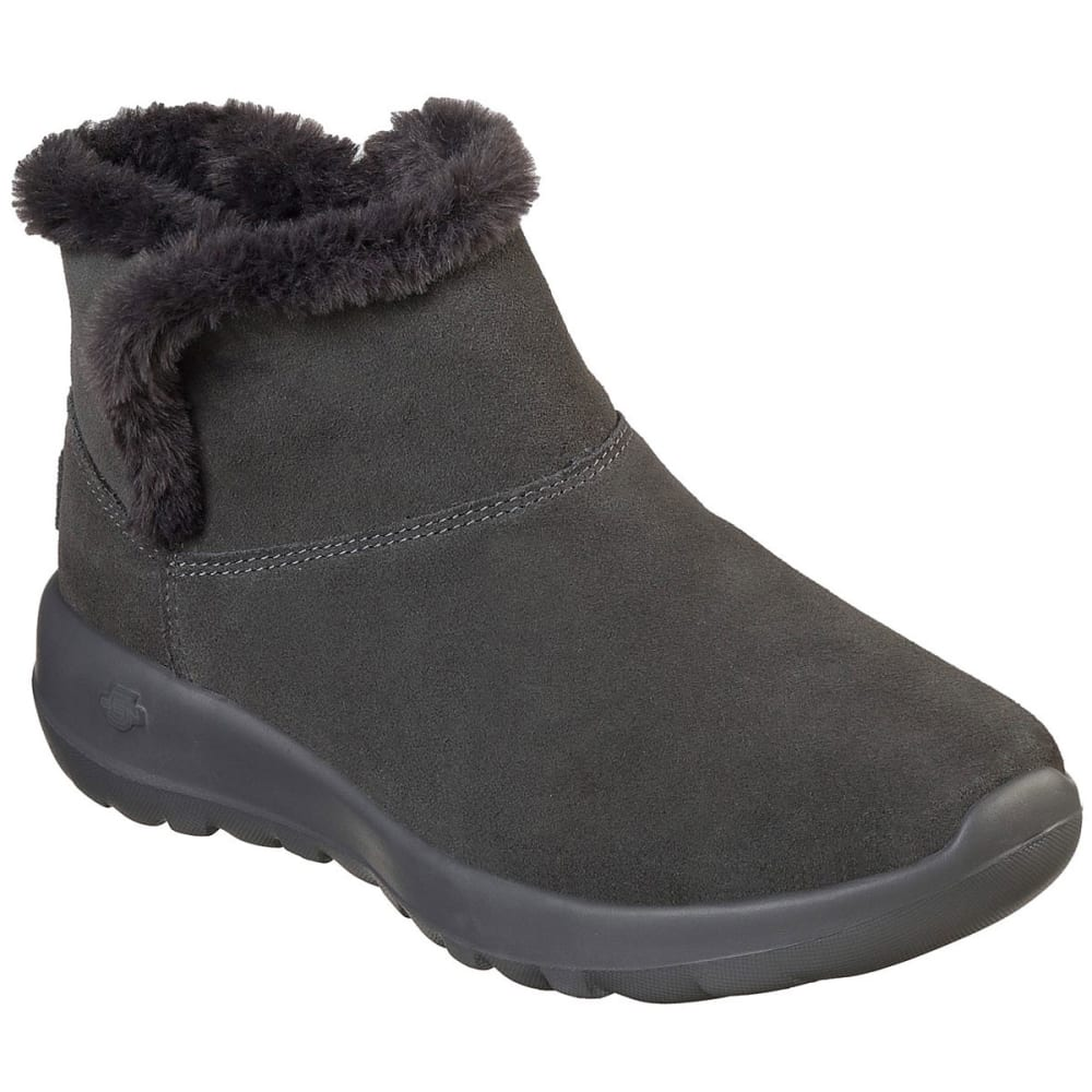 SKECHERS Women's On The Go Joy - Bundle Up Boots - CHARCOAL-CHAR