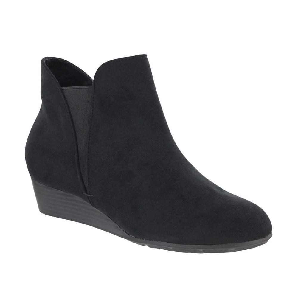 MIA Women's Sienna Sliver Wedge Ankle Booties - BLACK