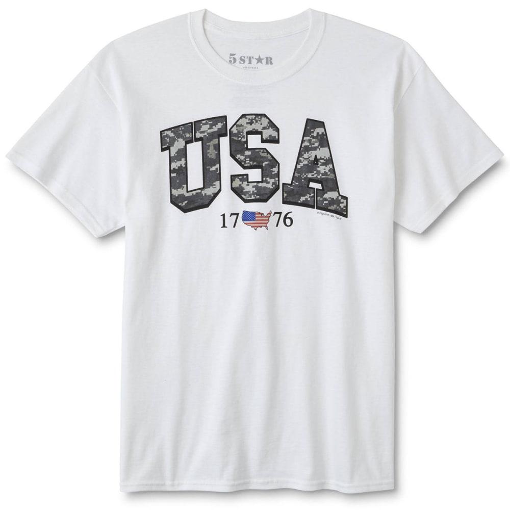 5STAR Guys' USA Digi Americana Short-Sleeve Tee - WHITE