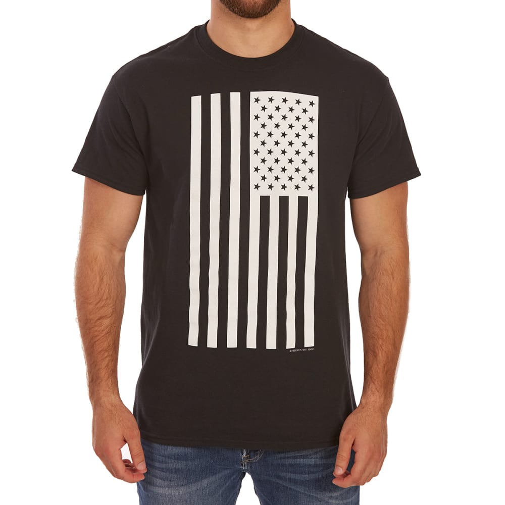 5STAR Guys' Solid Flag Americana Short-Sleeve Graphic Tee - Black, XXL