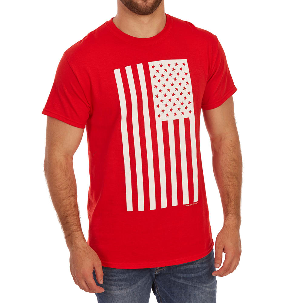 5STAR Guys' Solid Flag Americana Short-Sleeve Graphic Tee - Red, XL