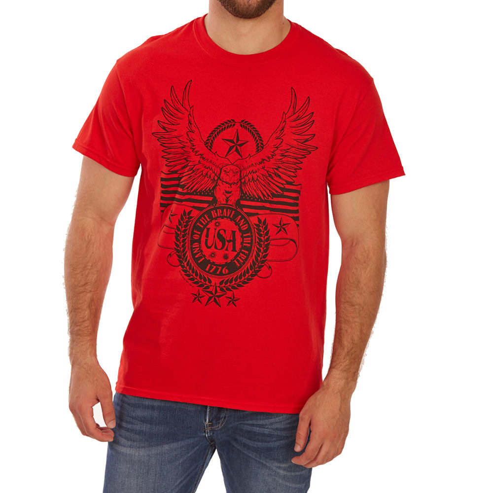 5STAR Guys' Drawn Eagle Americana Short-Sleeve Tee - RED