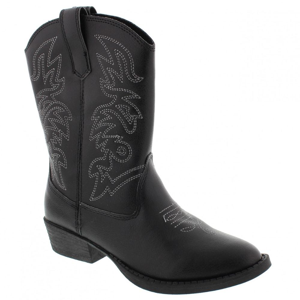 DEER STAGS Boys' Ranch Cowboy Boot - BLACK