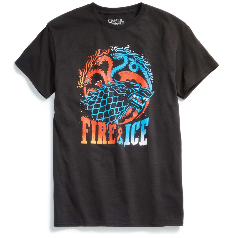 ISAAC MORRIS Guys' Game of Thrones Fire & Ice Short-Sleeve Graphic Tee - BLACK