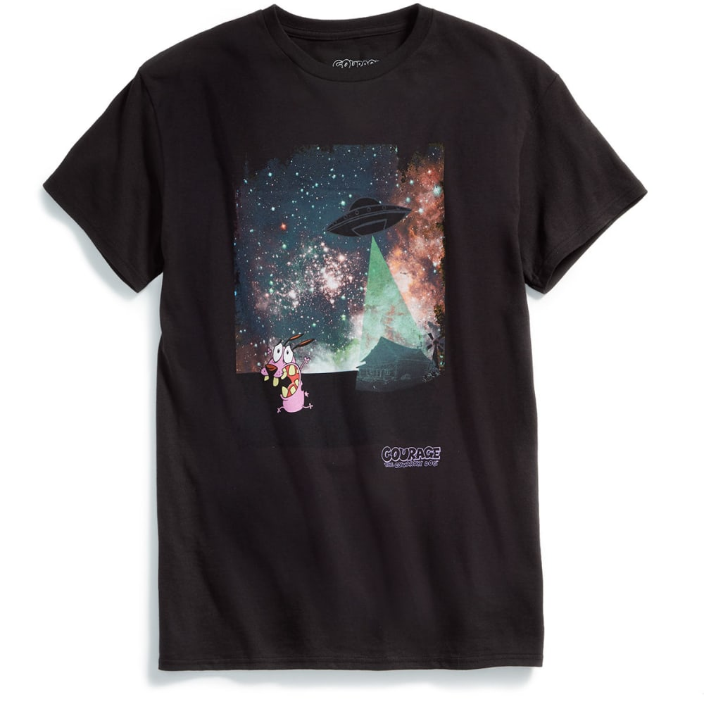 ISAAC MORRIS Guys' Courage Outer Space Short-Sleeve Graphic Tee - BLACK