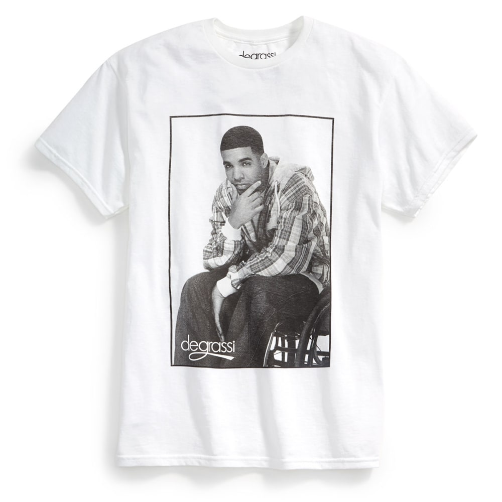 ISAAC MORRIS Guys' Degrassi Drake Short-Sleeve Graphic Tee - WHITE