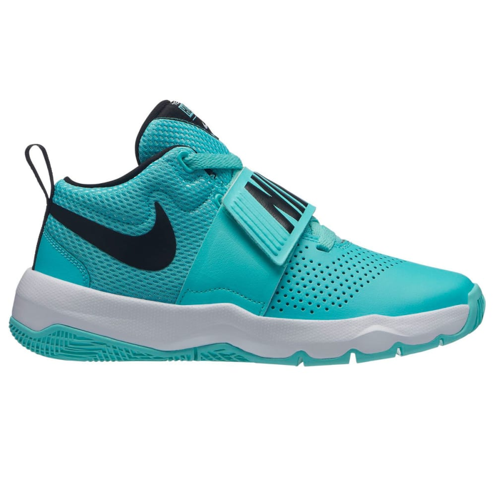 NIKE Big Girls' Team Hustle D 8 Basketball Shoes - AURORA GREEN-302