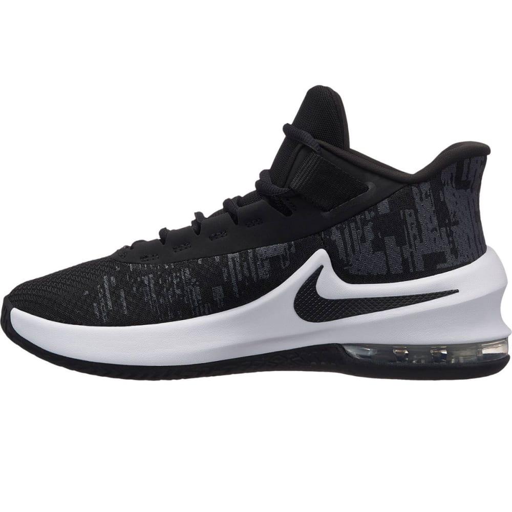 NIKE Big Boys' Grade School Air Max Infuriate 2 Mid Basketball Shoes - BLACK-001