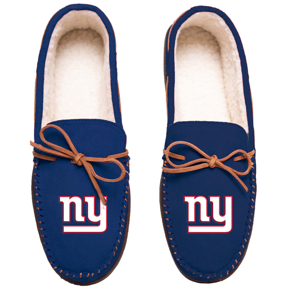 NEW YORK GIANTS Team Color Big Logo Moccasin Slippers - ROYAL BLUE