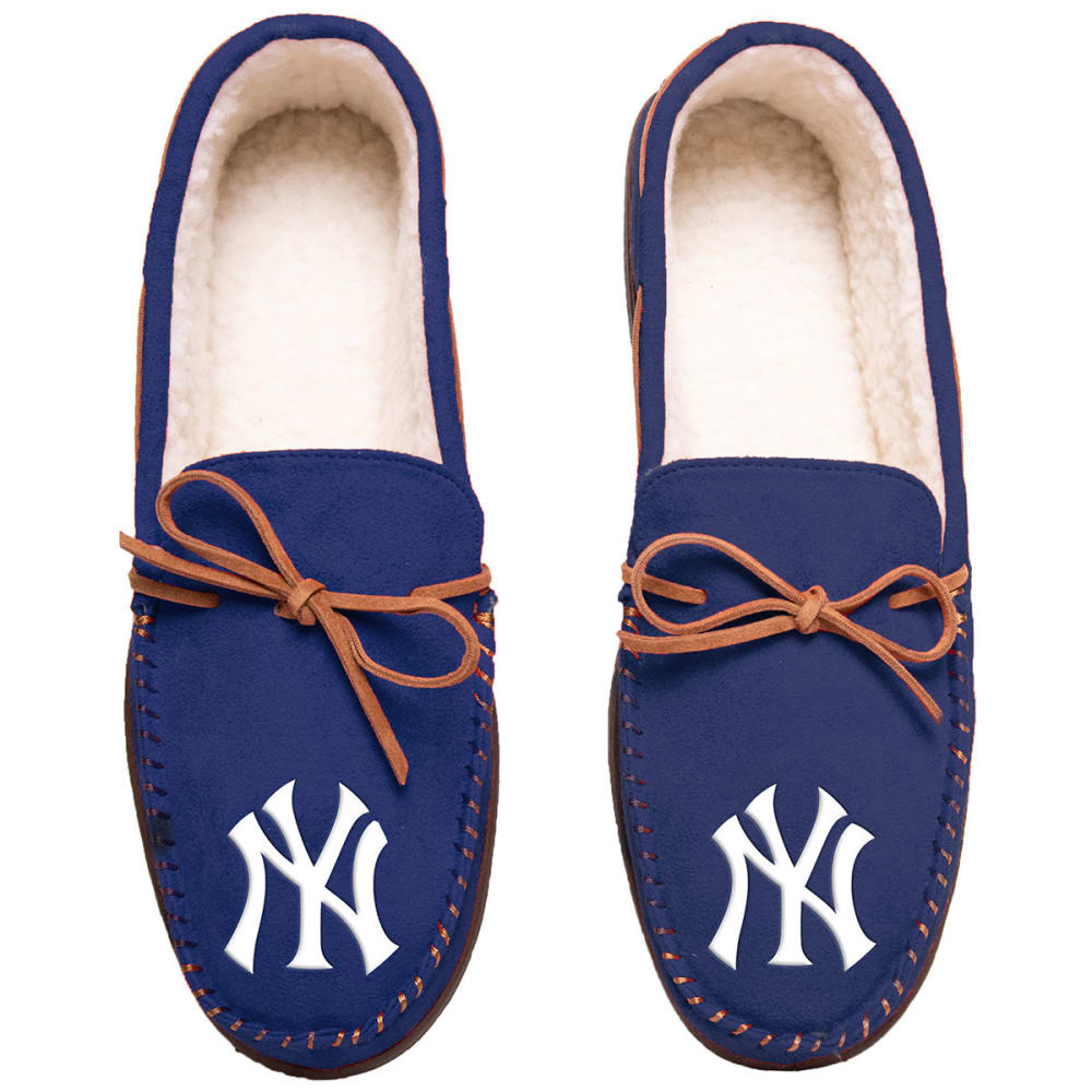 NEW YORK YANKEES Team Color Big Logo Moccasin Slippers - NAVY