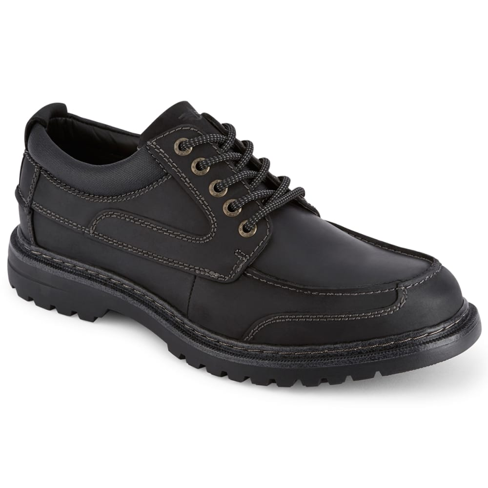 DOCKERS Men's Overton Moc Toe Oxford Shoes, Wide - BLACK
