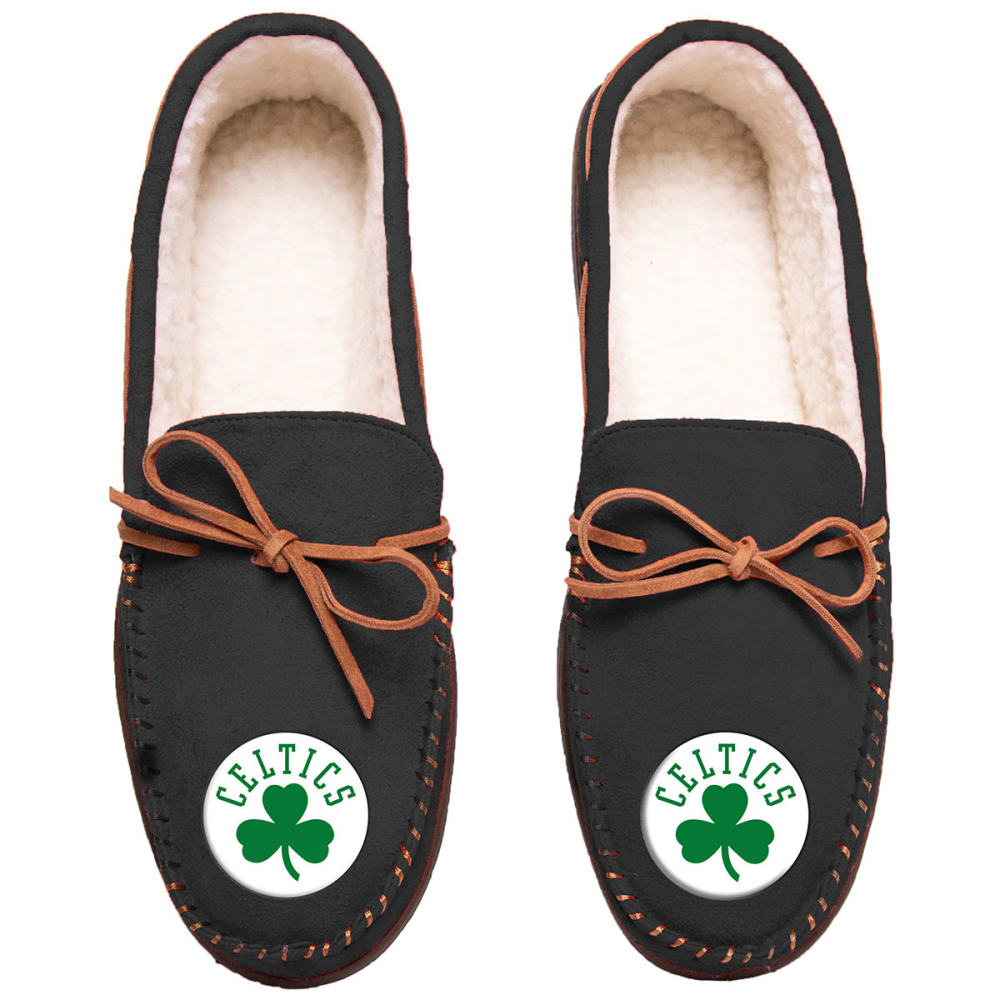 BOSTON CELTICS Team Color Big Logo Moccasin Slippers - GREEN