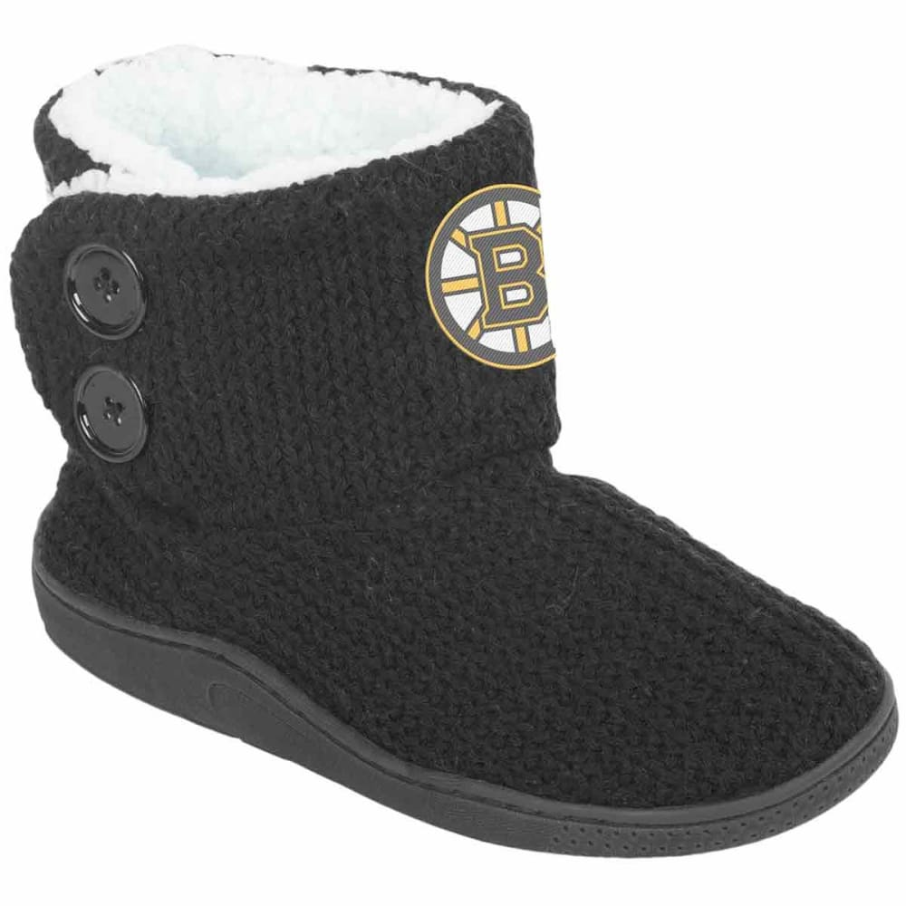 BOSTON BRUINS Knit 2-Button Boots - BLACK
