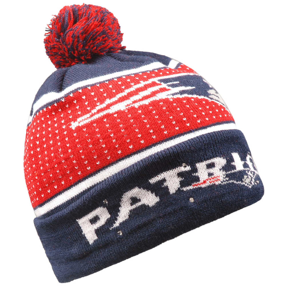 NEW ENGLAND PATRIOTS 2018 Big Logo Knit Light-Up Beanie - NAVY