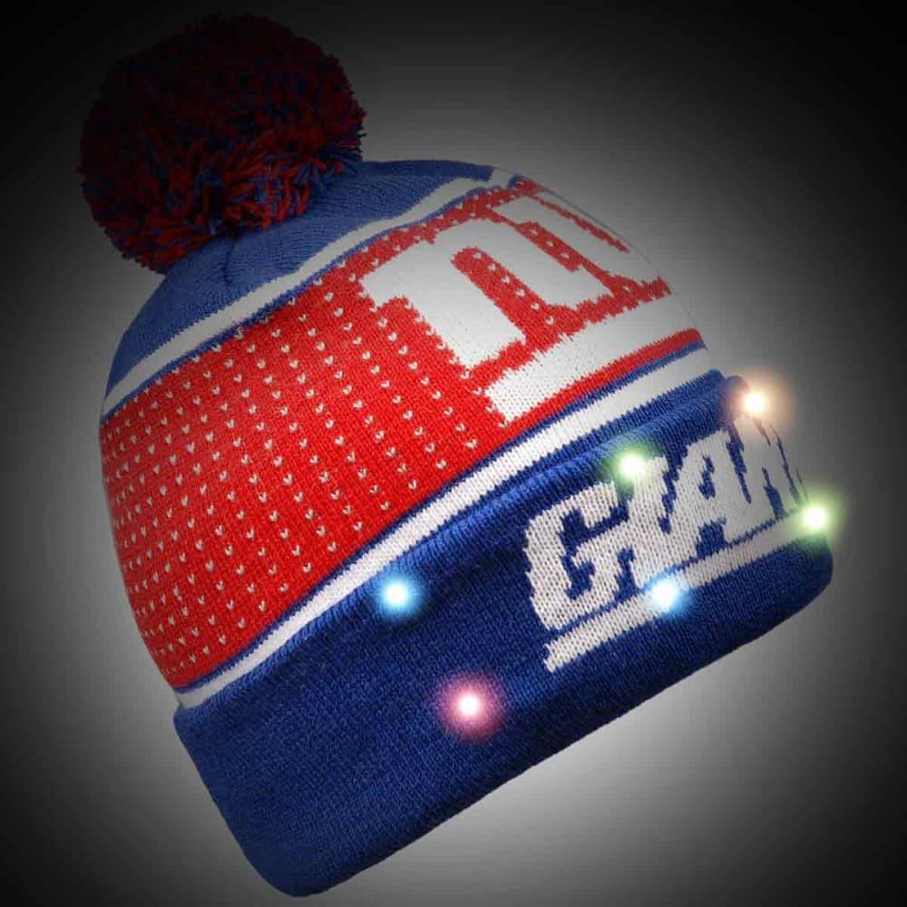 NEW YORK GIANTS 2018 Big Logo Knit Light-Up Beanie - ROYAL BLUE
