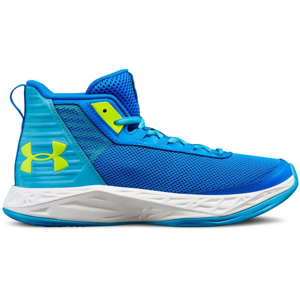 UNDER ARMOUR Big Girls' Grade School Jet 2018 Basketball Shoes - BLUE CIRCUT-400