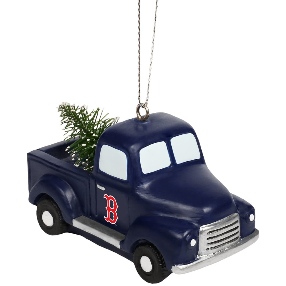 BOSTON RED SOX Truck with Tree Holiday Ornament - NAVY