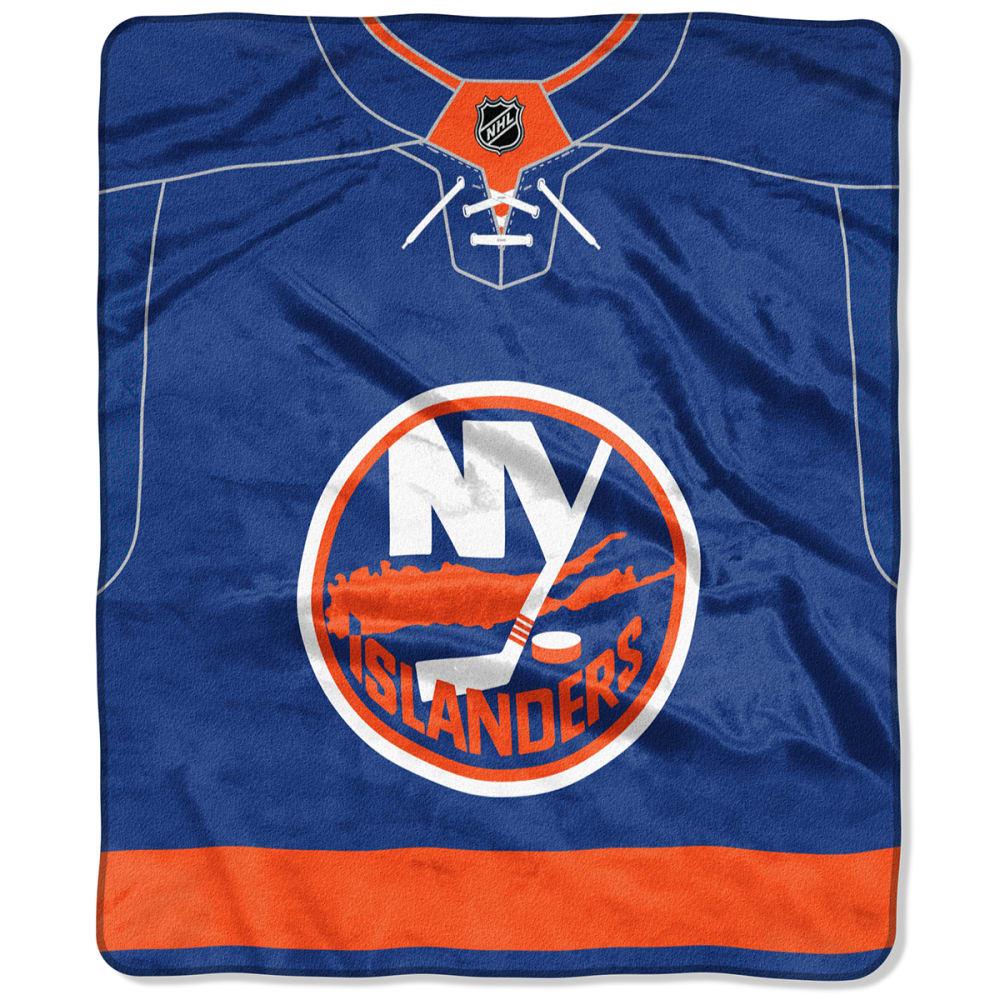NEW YORK ISLANDERS 50 x 60 in. Raschel Blanket - ROYAL BLUE