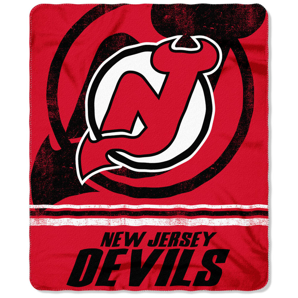 NEW JERSEY DEVILS 50 x 60 in. Fleece Throw Blanket - BLACK