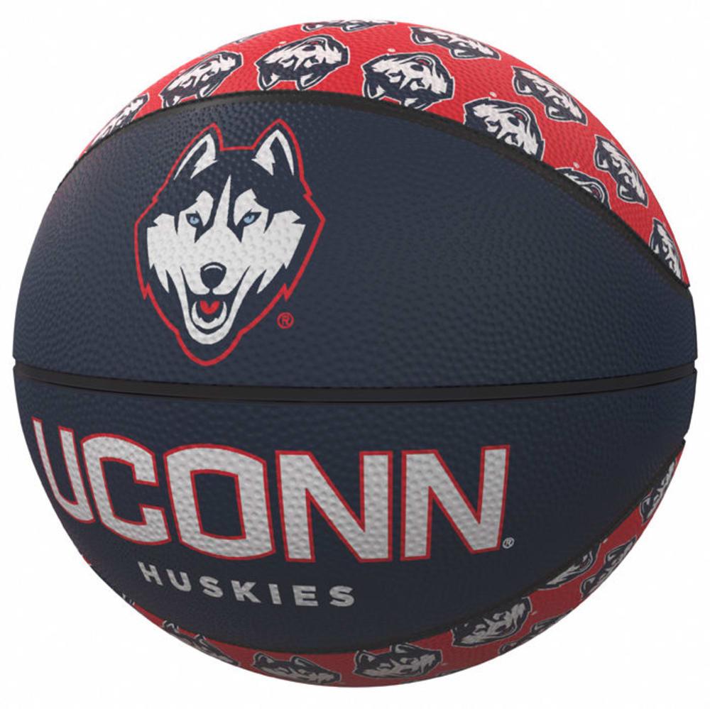 UCONN Repeating Logo Mini-Size Rubber Basketball - UCONN