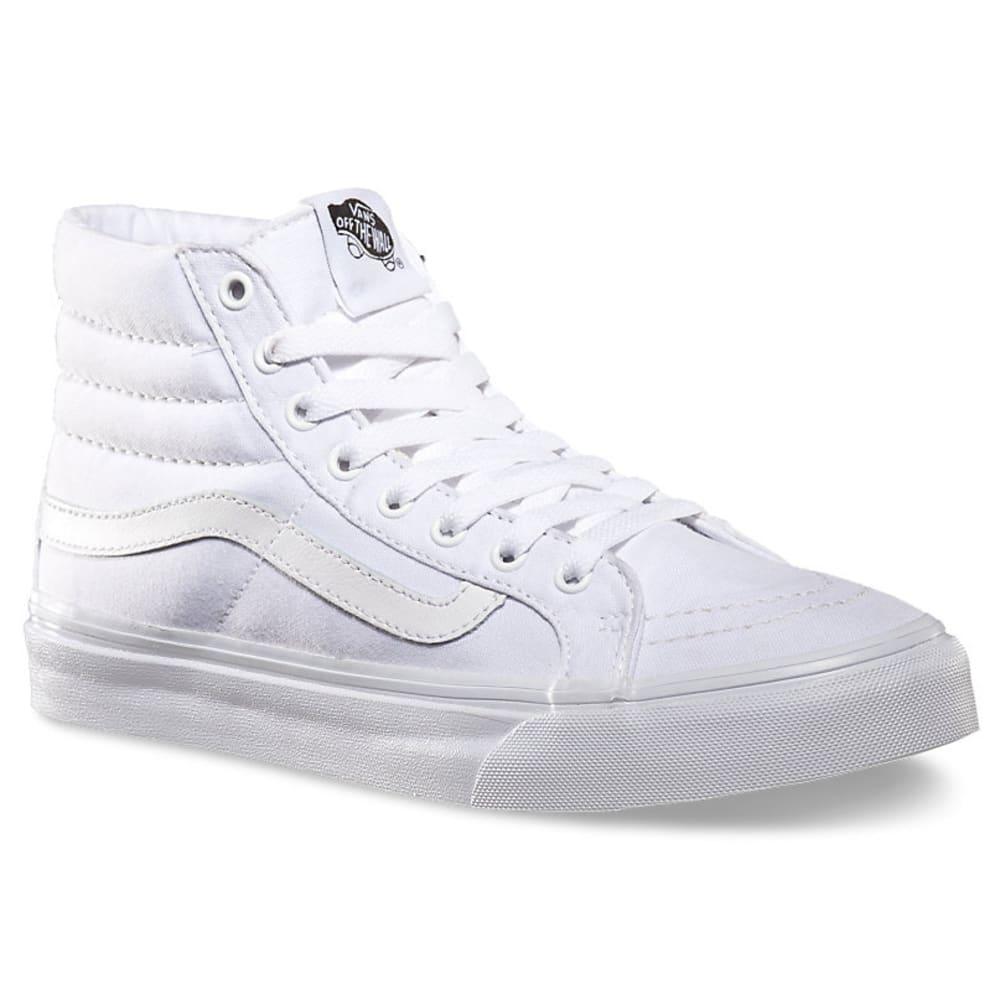 Vans Unisex Sk8-Hi Slim Casual Sneakers - White, 7