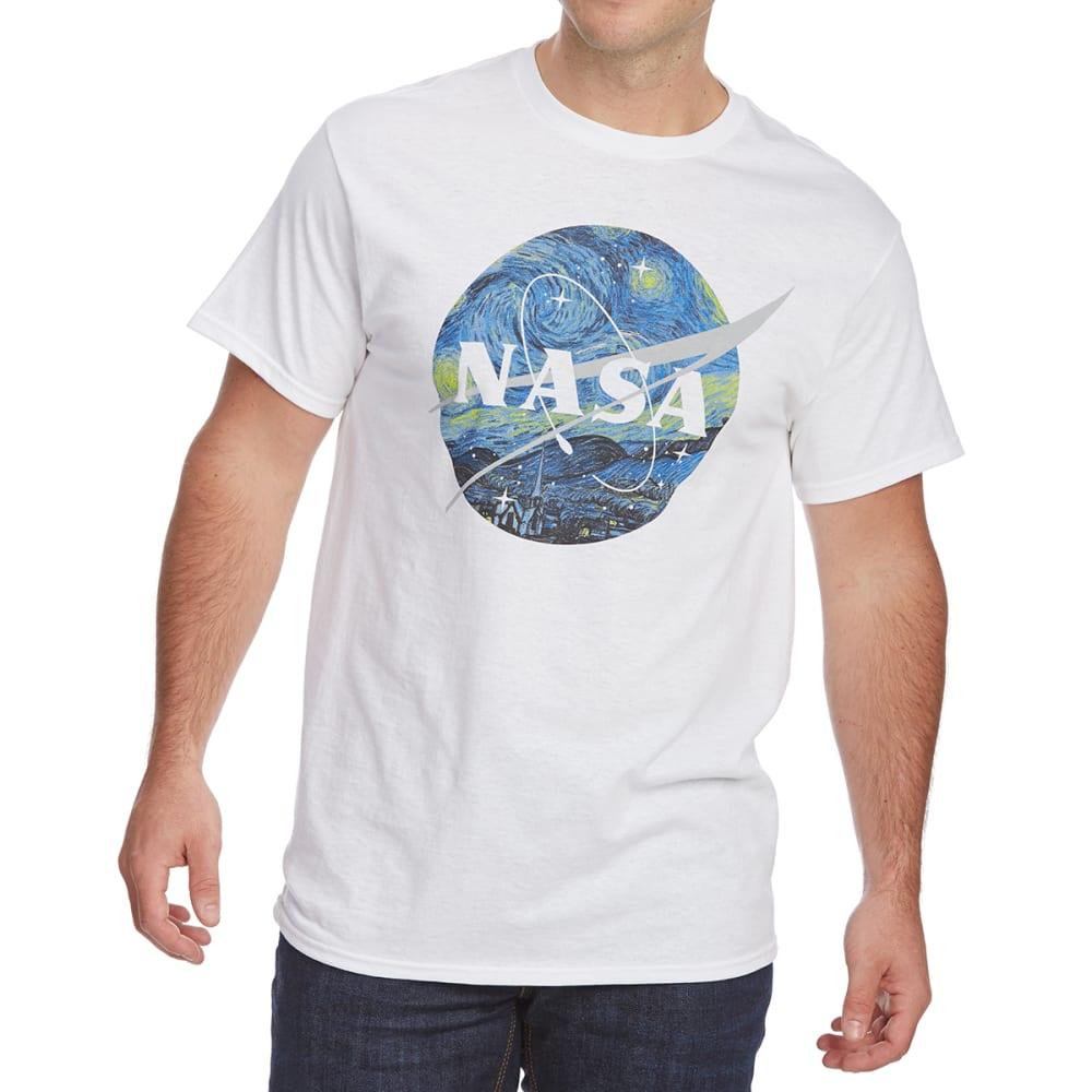 FIFTH SUN Guys' NASA Starry Night Short-Sleeve Graphic Tee - WHITE
