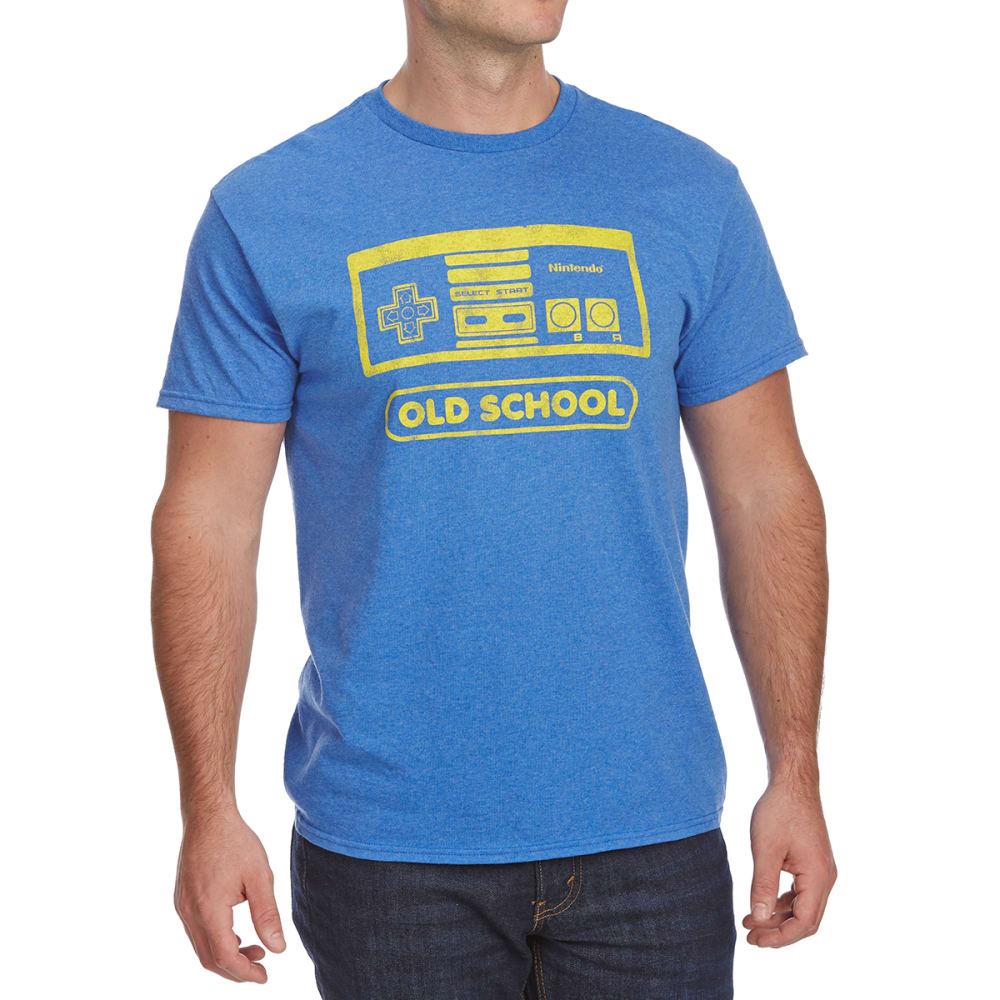 FIFTH SUN Guys' Nintendo Old School Short-Sleeve Graphic Tee - BLUE