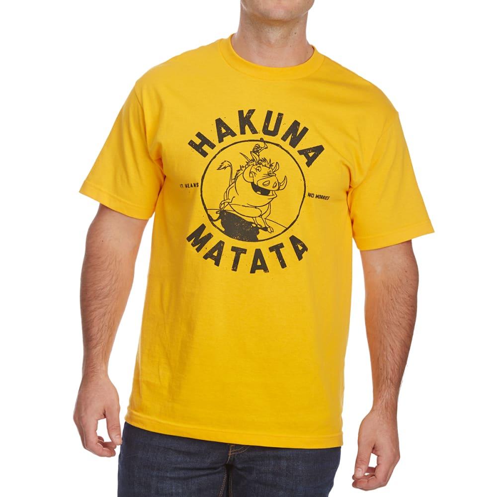 FIFTH SUN Guys' Hakuna Matata Short-Sleeve Graphic Tee - GOLD