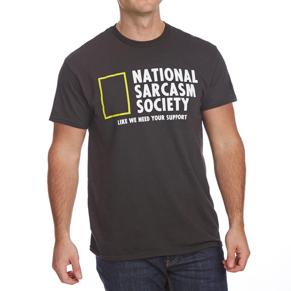 FIFTH SUN Guys' National Sarcasm Society Short-Sleeve Graphic Tee - BLACK