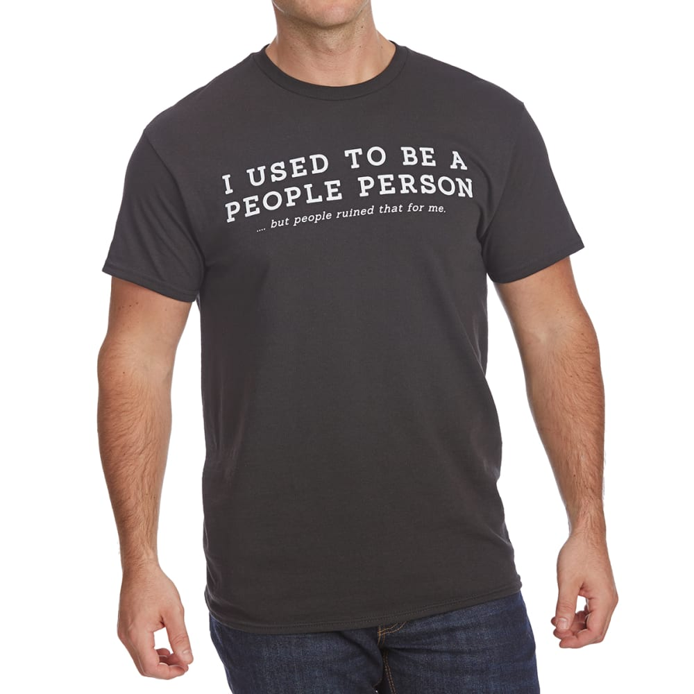 FIFTH SUN Guys' I Used to Be a People Person Short-Sleeve Graphic Tee - BLACK