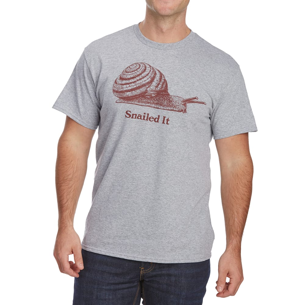 FIFTH SUN Guys' Snailed It Short-Sleeve Tee - LIGHT GREY