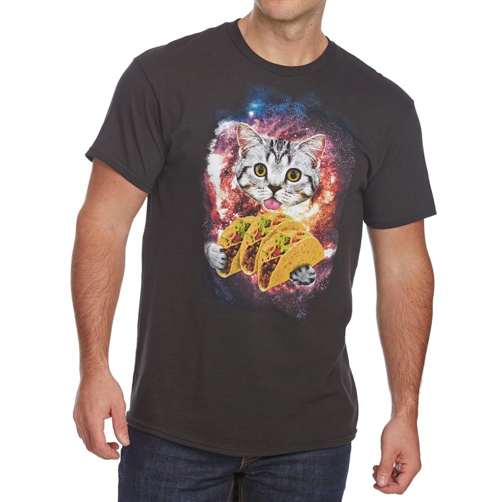 FIFTH SUN Guys' Space Taco Cat Short-Sleeve Graphic Tee - BLACK