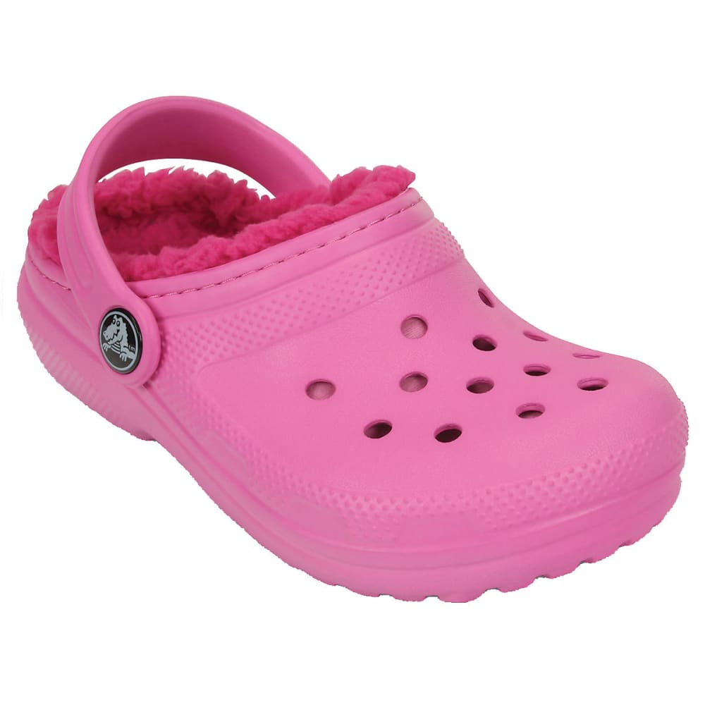 CROCS Girls' Lined Clogs - PARTY/CANDY PNK-6LA