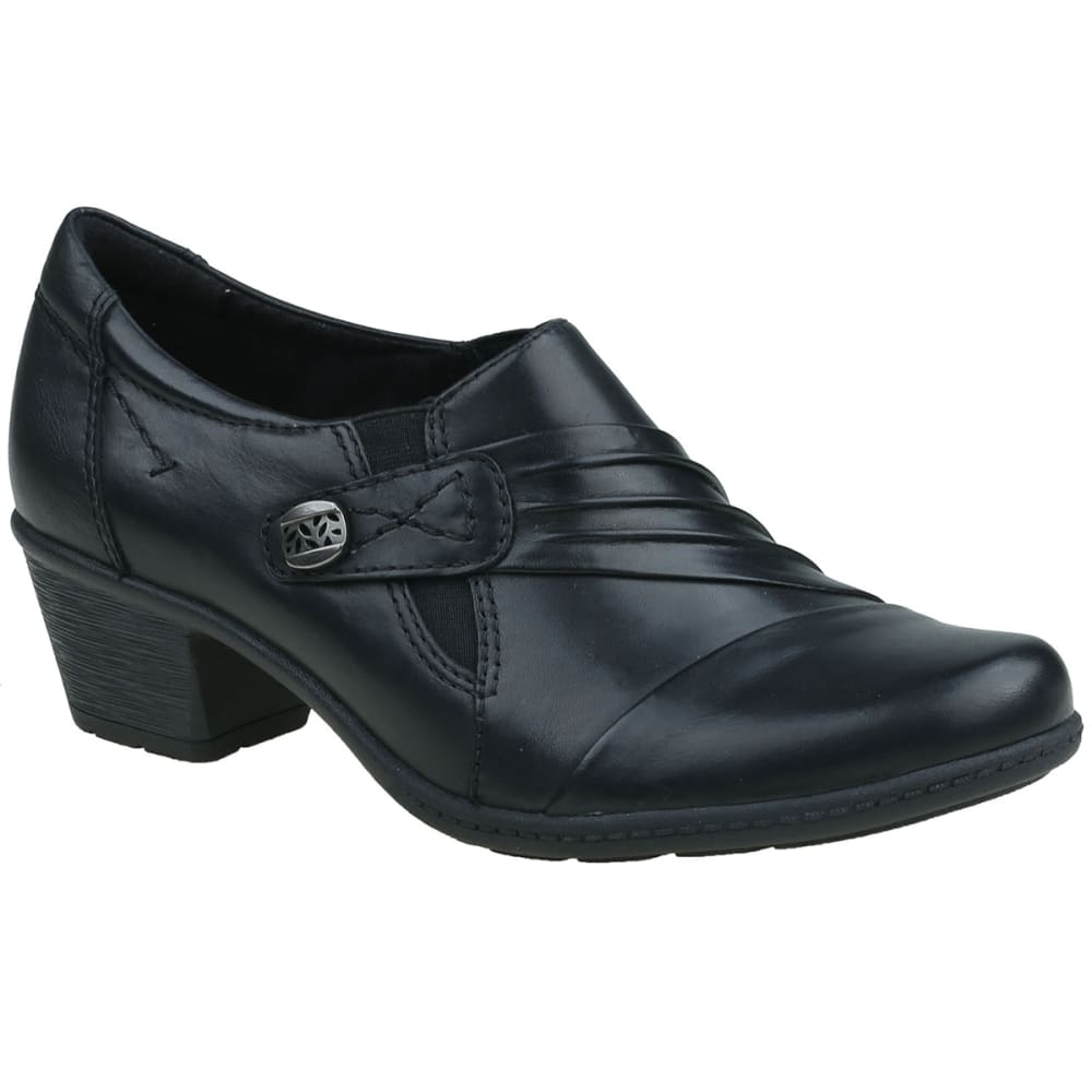 EARTH ORIGINS Women's Madison Ruched Shooties, Wide - BLACK-001
